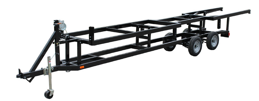 center lift pontoon trailer
