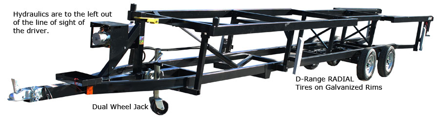 Hydraulic Pontoon Trailer Frame