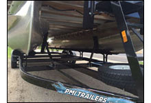 installing load guides on a pontoon trailer