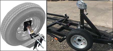 Crank Triple Tube Center Lift Pontoon Boat Trailers