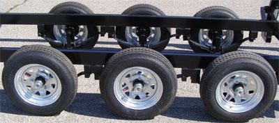 tripleaxle center lift triple tube pontoon trailers