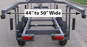 About center lift pontoon trailers